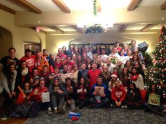 Holiday gift exchange with the ladies of Delta Gamma